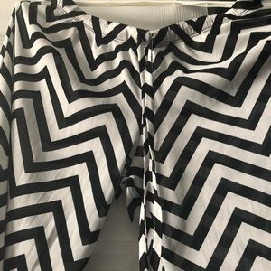 Chevron Beach and Pool cover up sheer pants